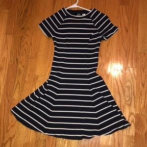 Urban Outfitters navy and white fit & flare dress